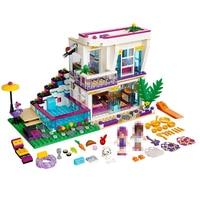 Building Blocks Friends Girls Series 01046 644pcs Livi S POP Star House Compatible 41135 Bricks Lepin