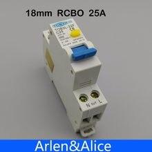 TOB3L-32F 18 ММ RCBO 25A 1 P + N 6КА Остаточный ток выключателя с по сравнению с нынешним и предохранения от Утечки дифференциальный автомат, диф автомат...