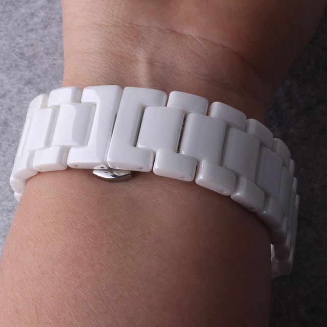Pure Keramische Nooit vervagen Horlogebanden 12mm 14 MM 16 MM 18 MM 20 MM 22 MM VOOR Heren Horloges Lady horloge band armband gepolijst
