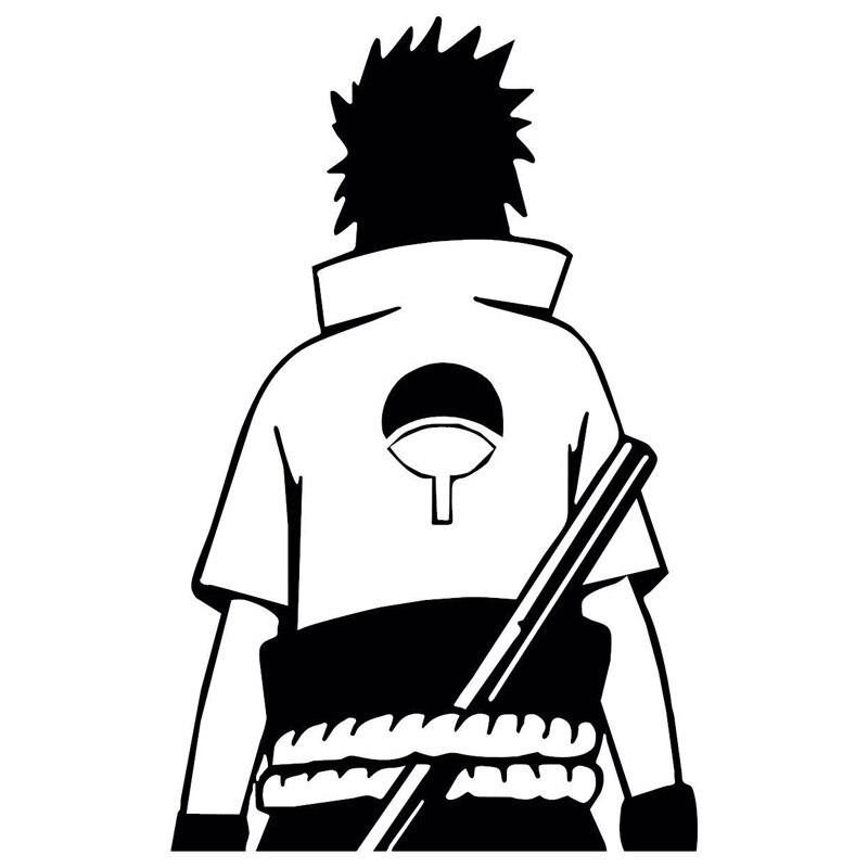 109 Cm 171 Naruto Sasuke Uchiha Anime Mode Aufkleber Decals Vinyl Schwarz Silber S3 4990 In