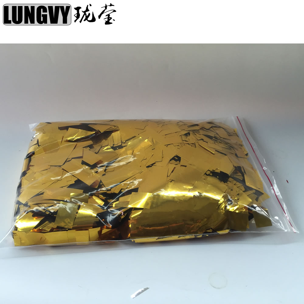 10KG lot Perfect Effect Gold Silver Colorful Confetti Paper For Fog Machine