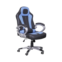 Mejor Estilo Racing Gaming Ajustable Silla de Oficina Silla de Escritorio de la Computadora Con Función de Descanso (Azul)
