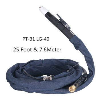 Free shipping PT31 LG40 high quality plasma cutting gun 7.6 meters complete FIT CUT50 Plasma Cutter cutting machine Accessories normal products spare parts plasma cutter cutting welding torch tips kit good evaluation fit pt31 lg40 backup 200pk