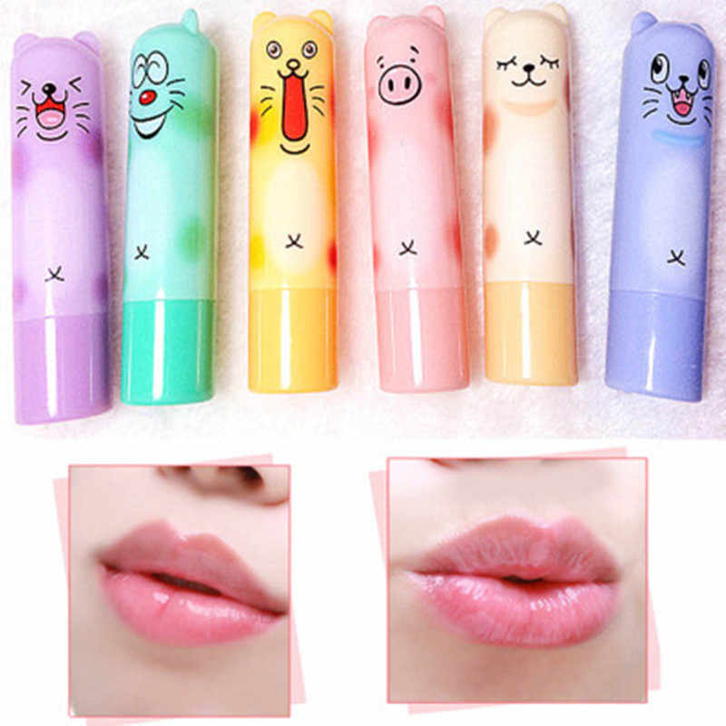 11.11 Lovely Bear Lip Balm Colorless Refine Repair Lip Wrinkles For Woman Winter Lip Care Baby Lips