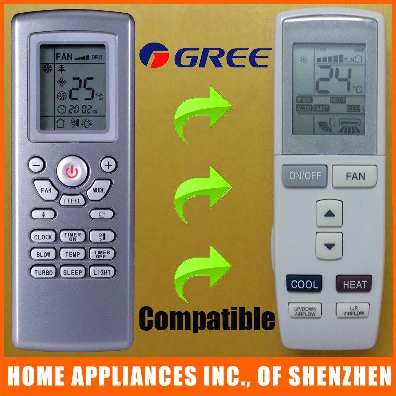 Gree Remote Control Symbols