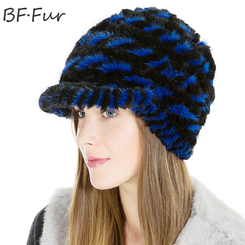 Natural Color Real Mink Fur Beanies Hats For Women Solid Adult Winter Warm Bonnet Casual Female Knitted Paisley Animal Girls Cap russian real mink fur hat for female animal fur winter warm beanies fashion solid color cap natural color bonnet girls hats