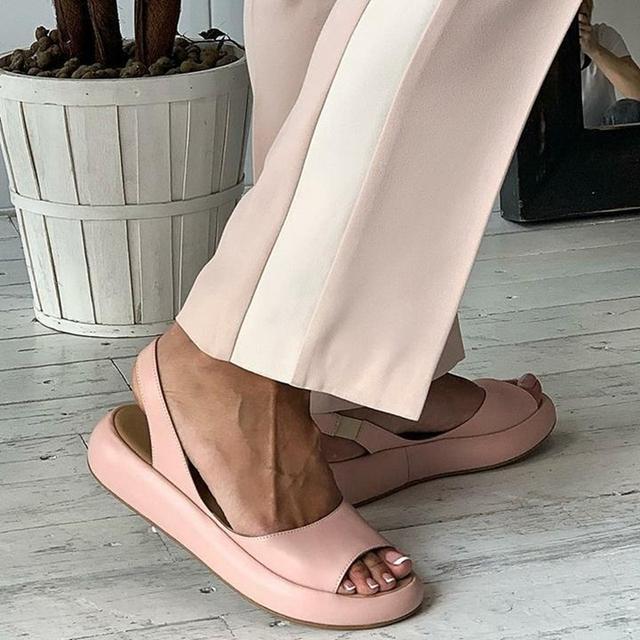 Women Sandals New Female Shoes Woman Summer Buckle Strap Comfortable Sandals Ladies Slip-on Flat Sandals