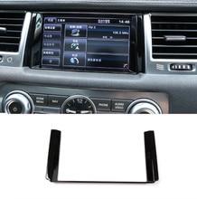 ABS Matte Car Interior Navigation GPS Panel Decoration Frame Trim For Landrover Range Rover Sport 2010-2013 Accessories
