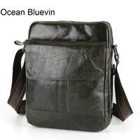 OCEAN BLUEVIN New Hot genuine leather crossbody bag small men bags first layer cow leather men's messenger bag shoulder bags