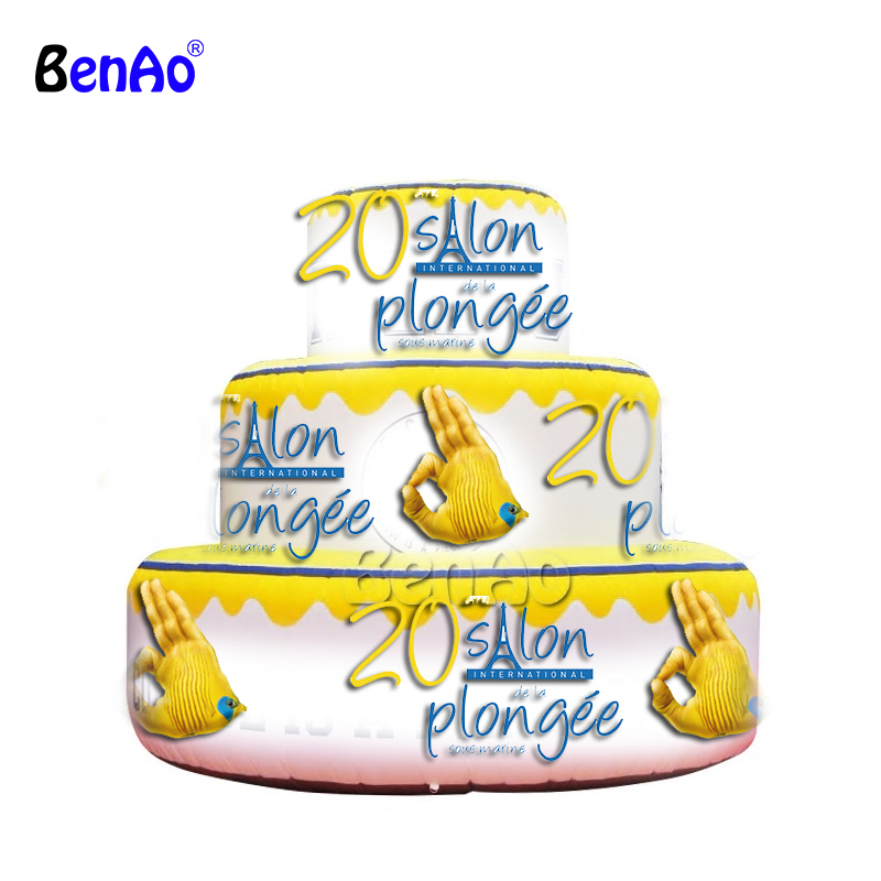 Z775 BenAo Advertising Inflatable Cake,inflatable Replicas
