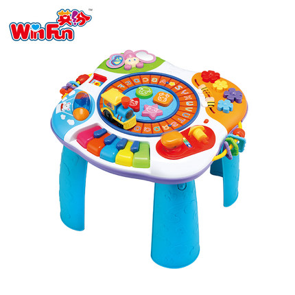 2 In 1 Colorful Educational Baby Learning Walker Piano Baby Activity Table Musical Baby Walker Discovering Toy Baby Desk Walkers