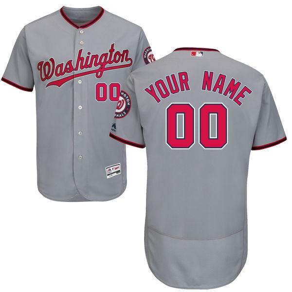 cd0d8838 ... free shipping stitched baseball mens washington nationals flexbase  baseball custom jersey gray navy scarlet 5426a 1ec2a