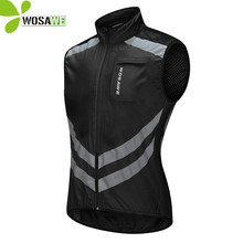 WOSAWE Reflective Cycling Vest Waterproof Gilet Sleeveless Waistcoat MTB Road Bike Bicycle Breathable Windbreaker Cycle Jerseys