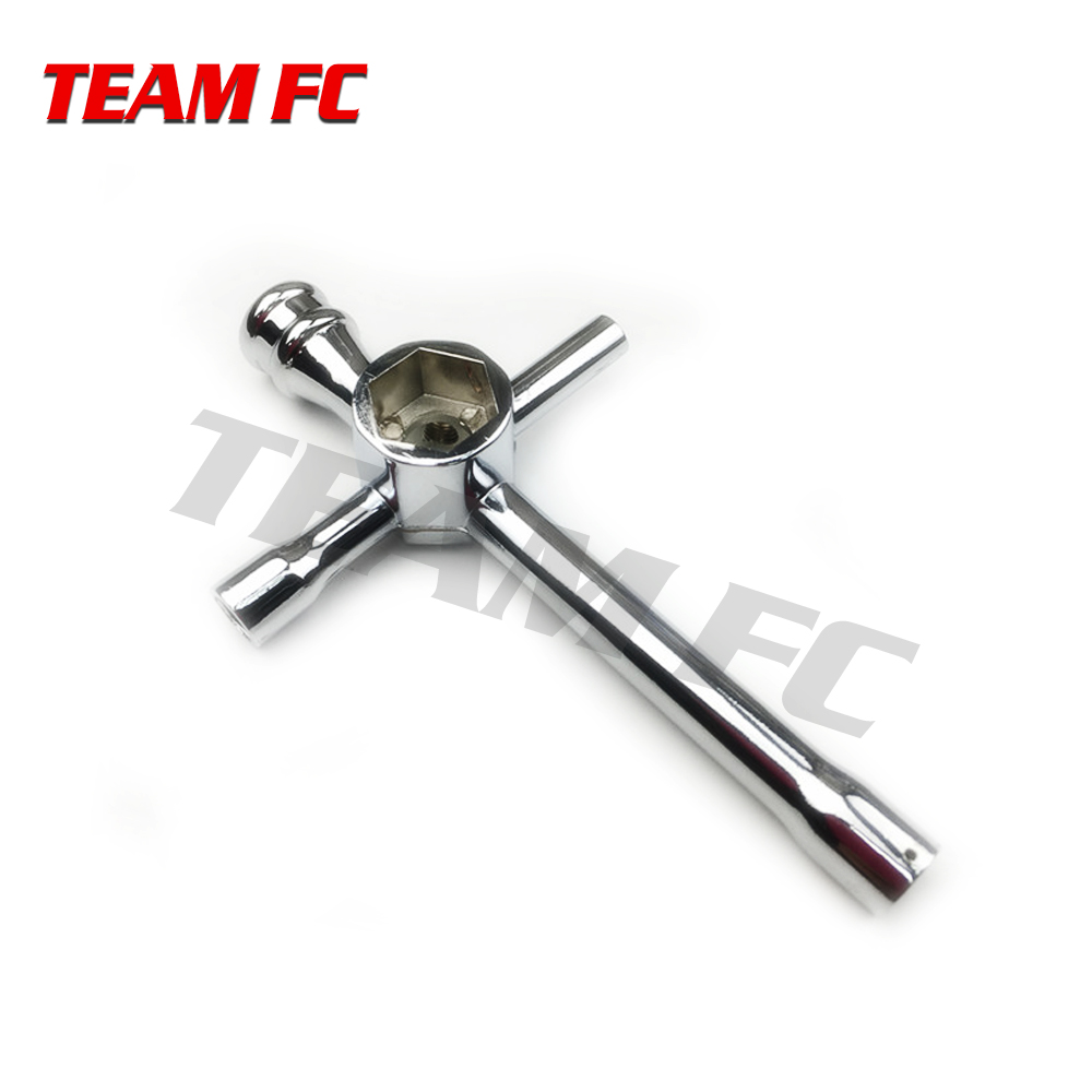 Large Cross Wrench Hex Socket for 1/10 HSP Model Car Aluminum Alloy Large Cross Hex NUT key Socket 5.5mm 7mm 8mm 10mm 17mm S118