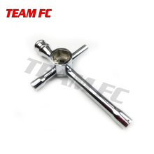 Large Cross Wrench Hex Socket for 1/10 HSP Model Car Aluminum Alloy Large Cross Hex NUT key Socket 5.5mm 7mm 8mm 10mm 17mm S118 4you адаптеры колес hex 10mm 8шт mv22060