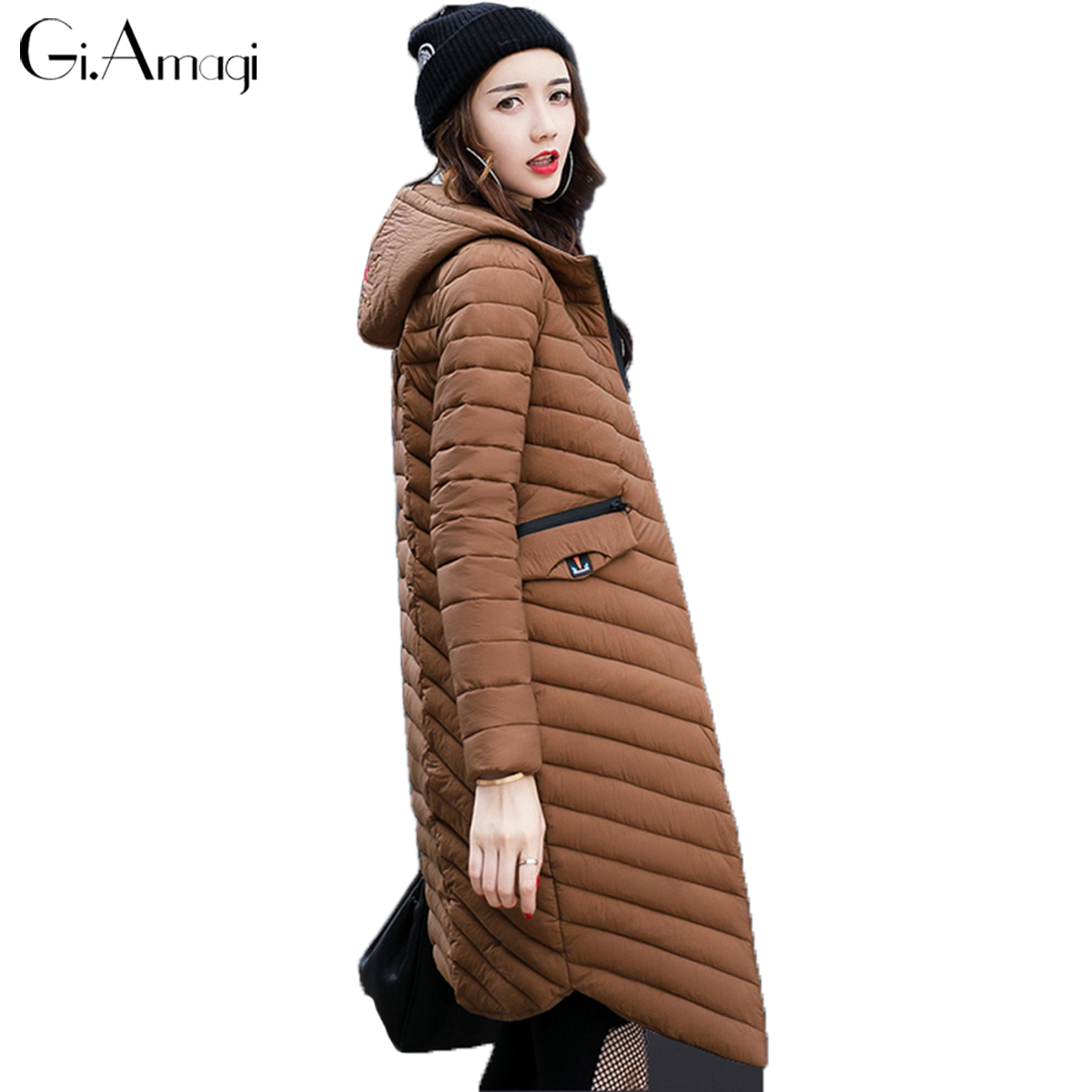 Parkas Mujer Invierno 2017 New Hooded Long Twill Thick Warm Women Winter Coat Plus Size Sobretudo Feminino Casacos Femininos qazxsw new winter cotton coat hooded padded women parkas mujer invierno 2017 winter jacket women warm casacos femininos hb221