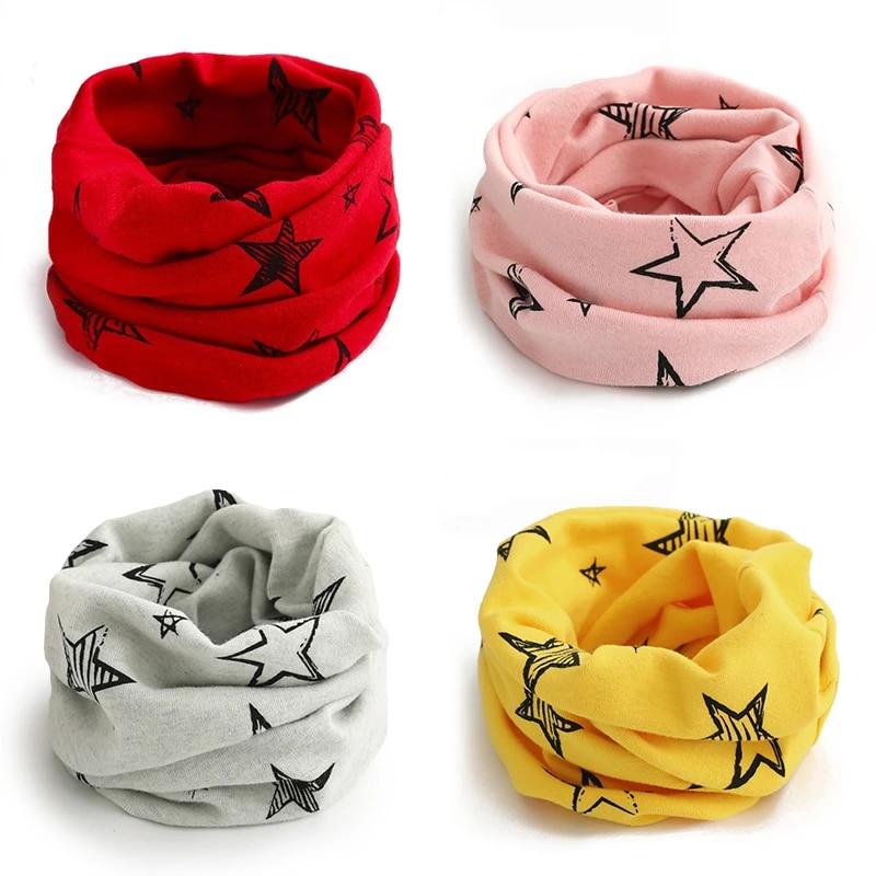 New Baby Winter Warm Girls Boys Stars Collar Scarf Children Ring Neck Scarves
