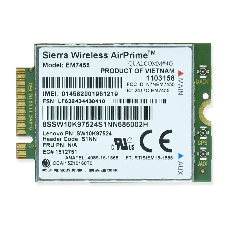 FRU EM7455 Gobi6000 4G WWAN LTE FDD TDD Rede Cartão para Lenovo T460s L460 L560 T460 T460p X270 Yoga 260 P40 P50 P70