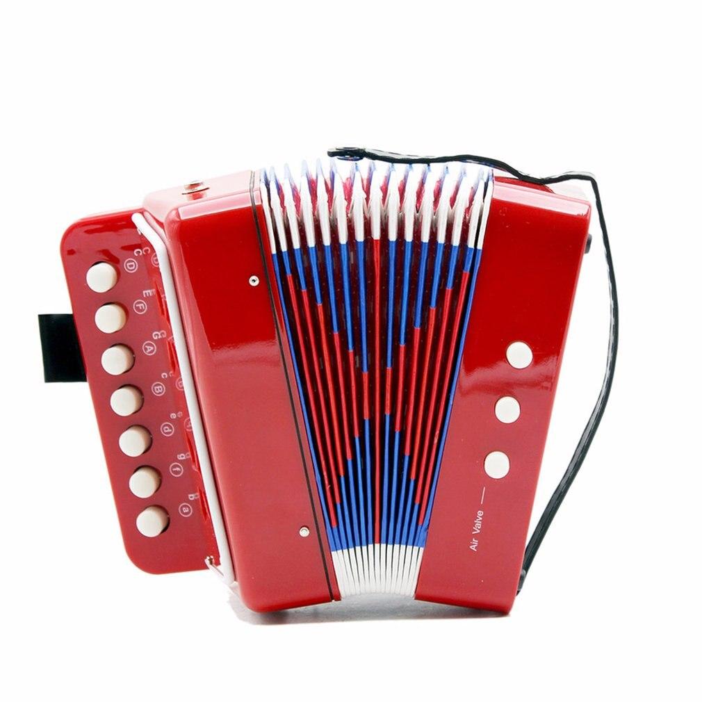 1 pc mini crianças acordeão 7-key 3 baixo educacional crianças iniciante prática instrumento de música banda brinquedo venda quente dropshipping