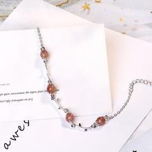 Новая мода женский корейский стиль 925 стерлингового серебра