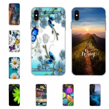 For Apple iPhone XS Max Cover Soft TPU Silicone Case Romantic Scenery Patterned max Shell Capa
