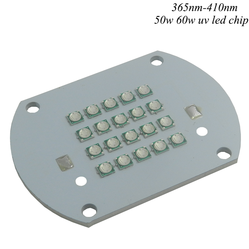 50W High Power UV 365nm 380nm 395nm 400nm 410nm 45MIL High Power Purple LED light Lamp Chip Bead for uv glue curing light ink
