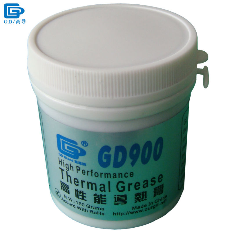 GD900 Thermal Conductive Grease Paste Silicone Plaster Heatsink Compound Net Weight 150 Grams High Performance For CPU LED CN150 30g grey silicone compound thermal conductive needle grease paste heatsink for cpu gpu led cooling component glue thermal pastes