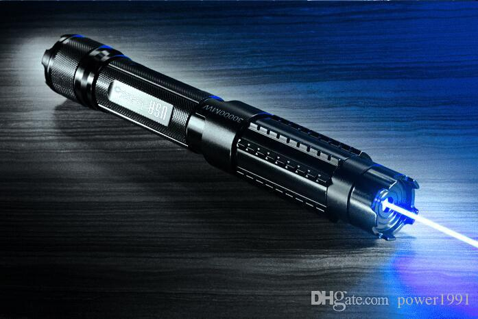 Super Powerful Light Cigarette Absolutely Real 500000MW 500W Adjustable Blue Laser Pointer 5 * Laser Heads Glasses Charger
