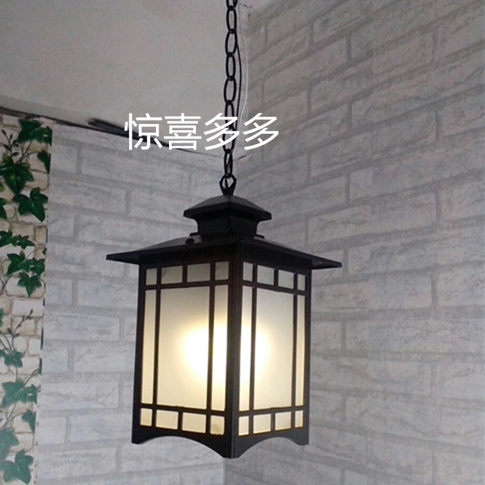 A1corridor balcony Retro lamp pastoral Chinese Pendant lamps outdoor pastoral lighting corridor dining room Pendant Lights chinese pendant lights antique wood sheepskin lamp classical terrace dining room lamp corridor corridor lamp lu812255