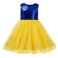 Baby Kid Snow White Dress Cosplay Party Princess Dress Birthday Photo Costume Short Sleeve Pleated Ball Gown Girls Dress 2 9Y