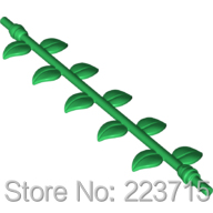 *Liane with 10 leaves * DIY enlighten block brick part No.16981 , Compatible With Other Assembles Particles