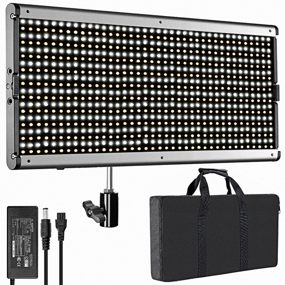 Neewer Bi-color 960 LED Dimmable with U Bracket Professional Video Light for Studio/YouTube Outdoor Photography Lighting Kit new godox 308c bi color dimmable 5500k 3300k led video led video studio light lamp professional video light with remote control