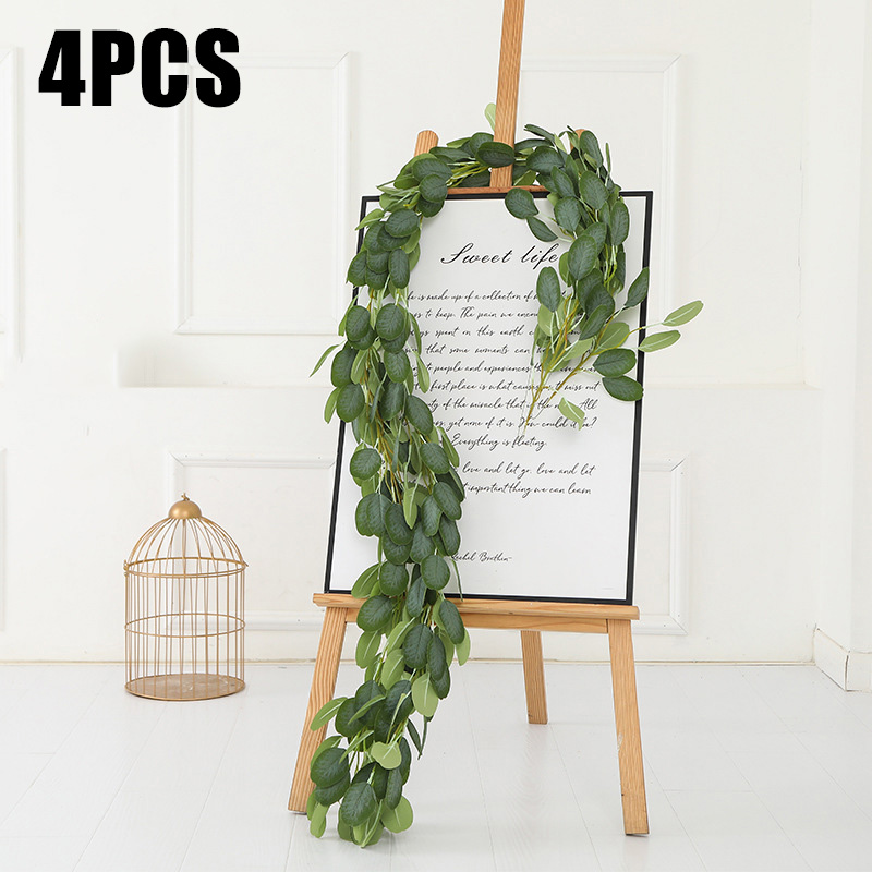 2m Artificial Eucalyptus Leaves Fake Vine Green Plants Garland Party Ornament