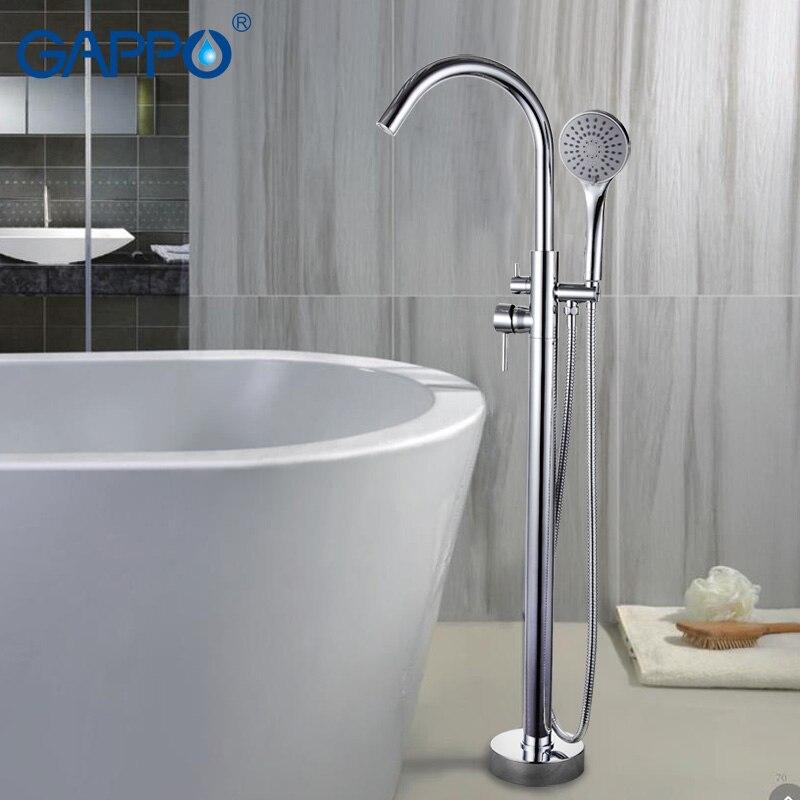 GAPPO robinets de baignoire robinets de salle de bain en laiton support de sol mitigeur de baignoire mitigeur de bain robinet évier cascade robinet système de douche