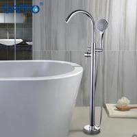GAPPO Bathtub Faucets bathroom taps Brass Floor Stand bathtub mixer bath mixer sink faucet waterfall faucet shower system
