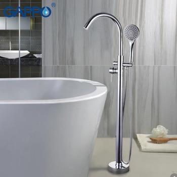 цена на GAPPO Bathtub Faucets bathroom taps Brass Floor Stand bathtub mixer bath mixer sink faucet waterfall faucet shower system