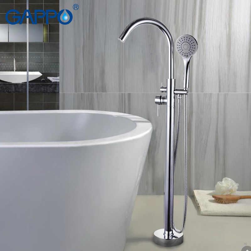 GAPPO อ่างอาบน้ำก๊อกน้ำห้องน้ำก๊อกน้ำทองเหลืองขาตั้งเครื่องอ่างผสมก๊อกน้ำน้ำตกก๊อกน้ำระบบ