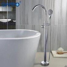 Gappo 욕조 수도꼭지 욕실 도청 황동 바닥 스탠드 욕조 믹서 목욕 믹서 싱크 수도꼭지 폭포 수도꼭지 샤워 시스템