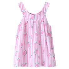 Dress for Girl 2018 Summer Children Clothing Cotton Watermelon Printed Princess Dress Floral Vest Dresses for