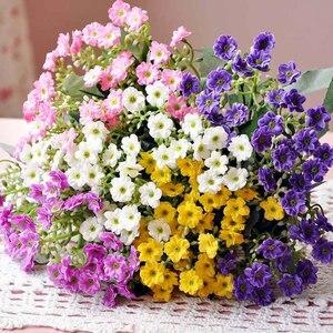 Image 1 - 新 6 枝エミュレーションシルクフラワーフォークミラノコーヒーテーブル人工花の結婚式ホームパーティーの装飾