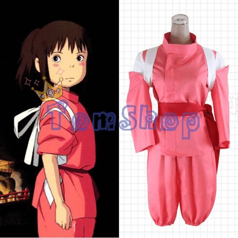 Anime Miyazaki Hayao Spirited Away Chihiro Ogino Sen Cosplay Costume Suit Uniform Size S Xxl Free Shipping Cosplay Costume Costume Suitscostume Cosplay Aliexpress