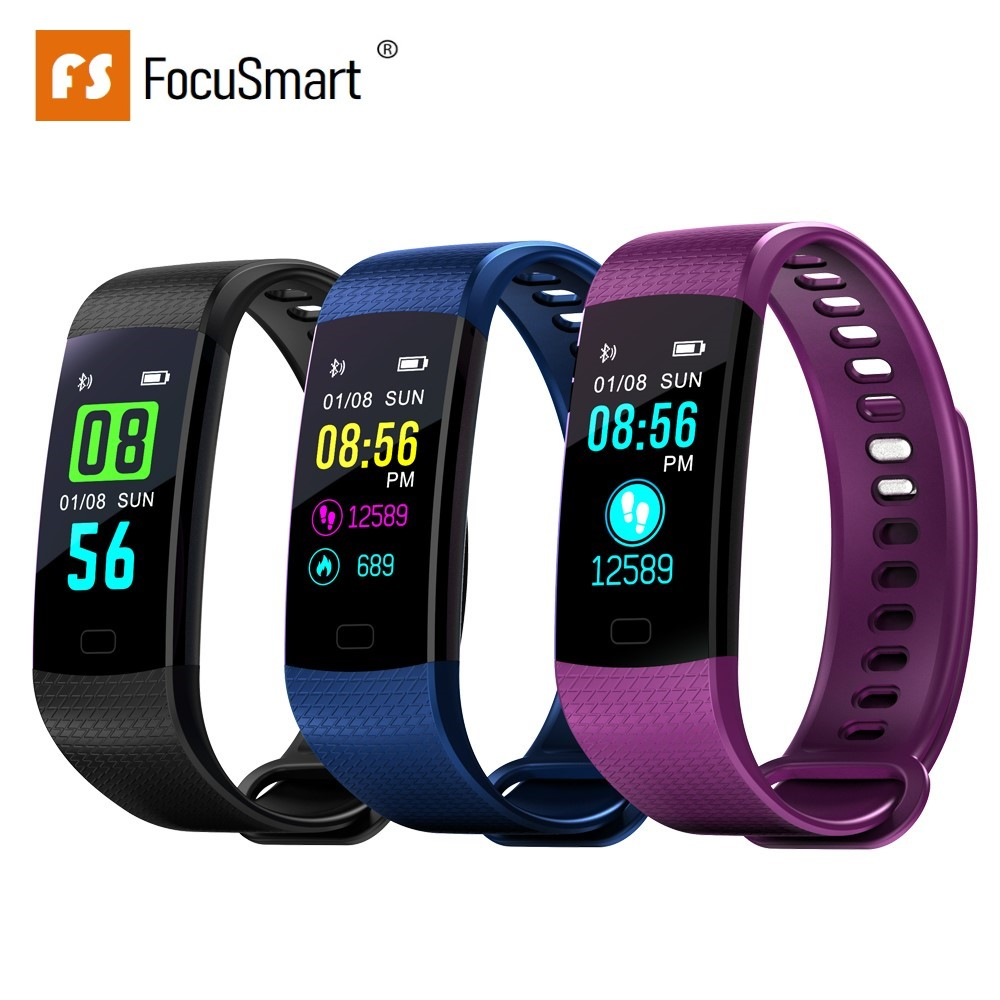 FocuSmart Y5 Smart Wristband Fitness Tracker Blood Pressure HeartRate Monitor Waterproof Color Screen Smart Bracelet PK MiBand 3