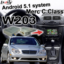Caja de interfaz de vídeo de navegación GPS Android para Mercedes benz Clase C W203 espejo enlace waze youtube wifi bluetooth quad core