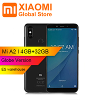 Global Version Xiaomi Mi A2 4G Phablet 4GB RAM 32GB ROM Snapdragon 660 Octa core 4G Smartphone 20MP Camera Mobile Phone
