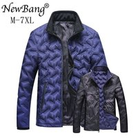 NewBang Brand 6XL 7XL Men Fashions Down Coat Male Down Jacket Men's Winter Thick Warm Double Side Reversible feather Jacket Man