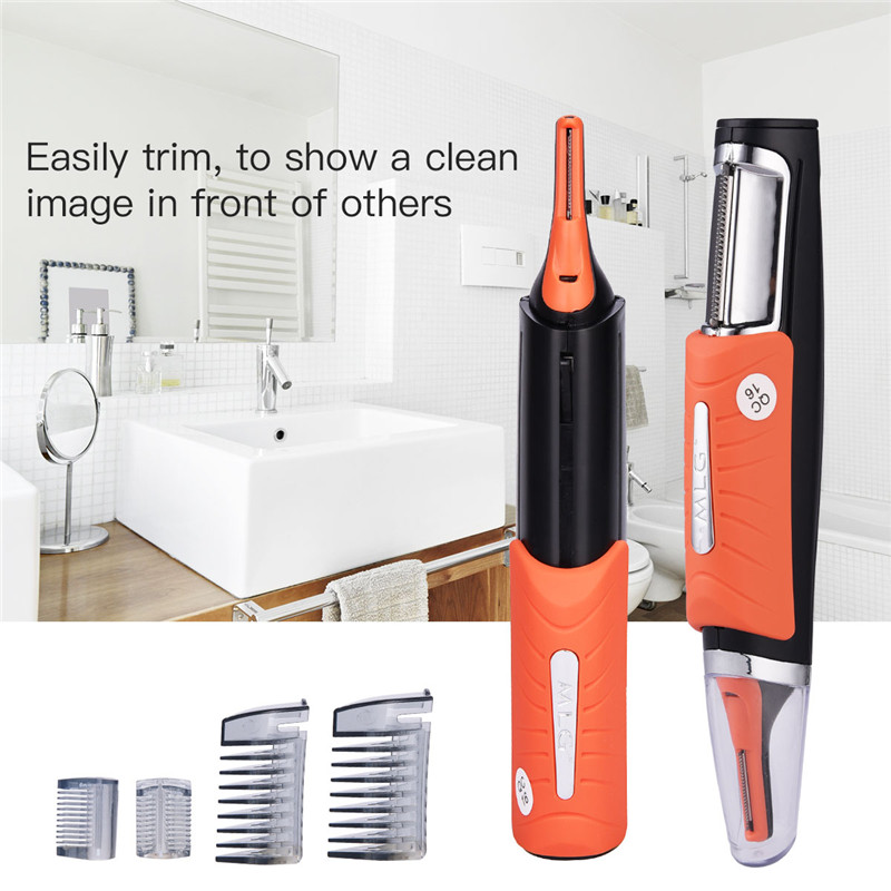 CkeyiN 2017 Original Micro Trimer Hair Cutter Clipper For Men Ear Sideburns Eyebrow with 4 Combs Cleaner Machine Styling Kit