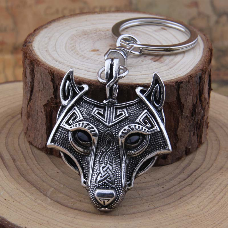 Yage 4Colors 1gab Talisman Norse Viking Sword Amulet Keychain Pendant Antique Silver Antique Bronze Antique Black Antique Copper