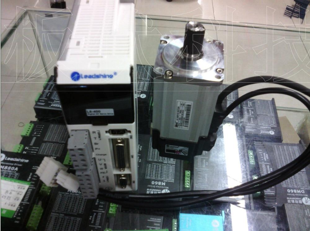 NOVA Leadshine AC Servo Drive L5-400 e AC servo motor de 400 W ACM6004L2H-B codificador 2500 linha de trabalho em 220VAC RUN 3000 RPM out 1.27NM