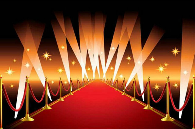 Celebrity Hollywood Gold Star Vip Red Carpet Scene Photo