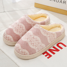 Beautiful Fur Slippers Winter Wedges Suede Striped For Girls Casual Short Plush Indoor Shoes Woman Hot Sale